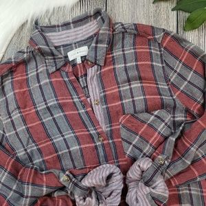 Lucky Brand Soft Plaid Flannel Button Down Shirt